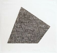 Robert Mangold: Untitled, 1989-90. Signed, Numbered, Woodcut, fine art print.