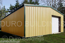 New Listingdurobeam Steel 25x48x12 Metal Garage Workshop Residential Building Kits Direct
