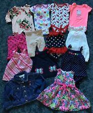 Infant Baby Girls Clothing Lot NB-6 m Dress Swimsuit Bodysuit Jean Jacket PJ