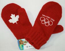 2010 Vancouver Winter Olympic Games Red Mittens New w/ Tags Canada Maple Leaf