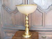 Prunkvolle Tischlampe Lampe Art Deco Stil  Nachbau ca. 50 Jahre alt Messing