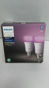 Philips Hue White & Color Ambiance E27 LED Lampe Doppelpack, dimmbar, bis zu 16