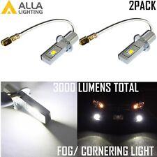 AllaLighting LED H3 Corner|Fog|Daytime Running Light Bulb Super White Replacemet