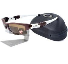 Oakley Custom POLARIZED Flak Jacket XLJ Team Dark Red Bronze Mens Sunglasses