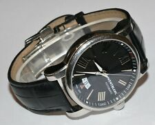 Men's Montblanc Star Date 41mm Stainless Steel Leather Automatic 4810 Watch 7102