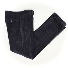 NWT Brooks Brothers Fleece Boys Corduroy Pants 16 Solid Navy Blue Flat Front