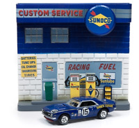 A.S.S NEU Johnny Lightning 1/64 Chevy Chevrolet Camaro Sunoco Diorama Display