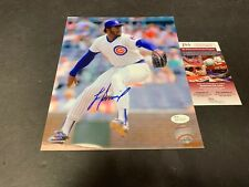 Lee Smith Chicago Cubs Autographed Signed 8x10 JSA WITNESS COA .