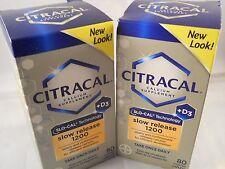 Citracal Calcium + D Slow Release 1200, 80ct each (2pk bundle) exp 2020