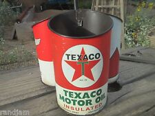 TEXACO MOTOR OIL CANS TRAY HOLDER METAL W HANDLEGas Oil Pump Station Sunoco