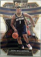 2019-20 Panini Select Zion Williamson RC Concourse #1 Base Rookie Pelicans