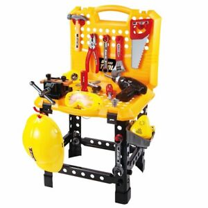 Toy Power Workbench, Kids Power Tool Bench Construction Set with Tools and Elect