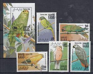 Sahara OCC. R.A.S.D. Parrots Birds - Vogel - Briefmarken - Timbres - CTO - Del.5