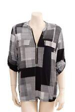 Classic Neckline Regular Geometric Tops & Blouses for Women