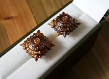 Military buttonhole pin / cufflinks: British Army Officer pips. Genuine WW2