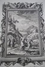 GRAVURE SUR CUIVRE BIBLE PHYSICA SACRA SCHEUCHZER SORCIERS 1735 WAGNER PRINT