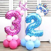 32 Inch Number Foil Balloons Wedding Birthday Party Decor Balloons Small DLUK