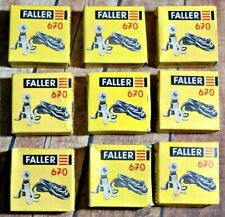 New In Box (10)  Faller #670 H0 18 V. 0.05 Amp. Lighting Fixture for Houses: