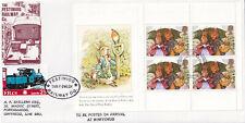 (45095) GB Festiniog Railway FDC Peter Rabbit Booklet Pane Beatrix Potter 1993