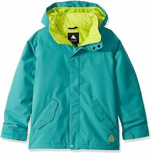 $150 Burton Elodie Snowboard Ski Hood Jacket Dryride Girl Small green blue AB476