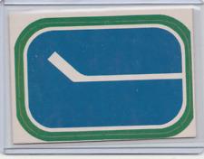 1972-1973 OPC, NHL Team Emblem insert  - Vancouver Canucks
