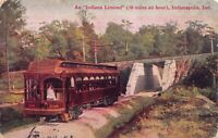 Postcard An Indiana Limited Trolley Railroad Train Indianapolis, Indiana~126499