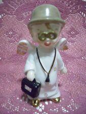 *SUPER RARE VTG* Doctor Boy Angel Holds MD Bag / nurse Figurine EX