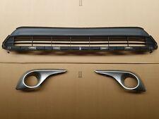 fits 2011-2013 HIGHLANDER Front Bumper Lower Grille Fog Light Lamp Bezel SET 3PC