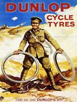 WAR DUNLOP TYRE SOLDIER UK VINTAGE ADVERTISING POSTER RETRO WALL PRINT 1583PY