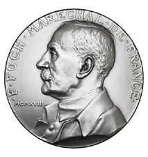 Medaille F. Foch marechal de France Bronze argenté
