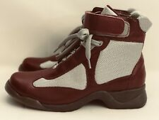 STUDIO by 4seasons Womens SIZE 7.5 Wine Red leather Strap Laced Ankle Boots.