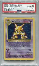Pokemon Card 1st Edition Shadowless Alakazam Base Set 1/102, PSA 10 Gem Mint