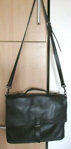 Men's JOHN VARVATOS Black Leather Handbag Messenger
