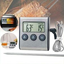 MINI Digital Cook Food Meat Thermometer with Probe For Grill Oven BBQ Timer NEU