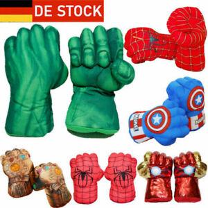 Kind Boxhandschuhe Avengers Spiderman Handschuhe Cosplay Hulk Spielzeug Gifts*DE