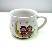 Vintage Campbell Soup Company Ceramic Mug Boy Girl Moon Stars Double Sided