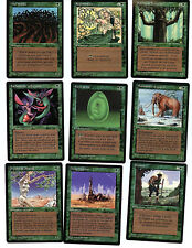 Magic WOTC French Black Border Revised Limited Unplayed Mint 15 Green card lot