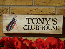 Personalised Garden Shed Signs Golfers Sign Golfing Signs Any Name Any Wording