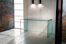 Scrivania Cristallo  curvato Sky da cm L 125 P 70 altezza 73 Studio Ufficio