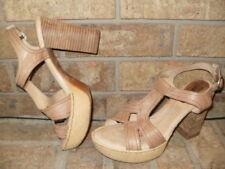 Born N68206 Crown Shanna Leather Platform Sandals SZ 42/US 10 / /Beige MSRP $150