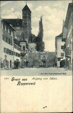 Gruss Aus Rapperswil Switzerland c1900 Postcard