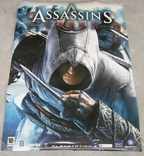 "ASSASSIN'S CREED PS3 XBOX 360 RARE ISRAELI Orig Promo poster DS 27""x19"" 2008"