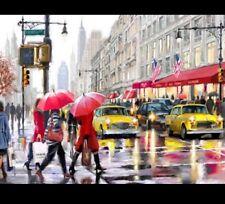 Fai DA TE TELA DIPINTO A OLIO vernice da numeri New York Life kit includono colori + pennello