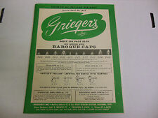 Grieger's Catalog Number 551, Featuring Baroque Cars and much more 061113ame