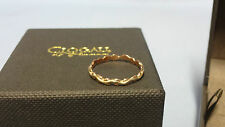 Welsh Clogau 9ct Yellow & Rose Gold Life Affinity Stacking Ring Size M RRP £139