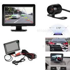 """4.3"""" TFT LCD Monitor Car Rear View System Backup Reverse Camera Night Vision Kit"""