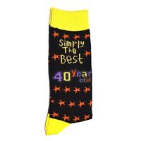 40th Birthday Gifts Simply The Best Socks Polyester Adult Size