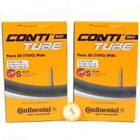 Two (2) Pack Continental Race 700 x 25-32C 42mm RVC Presta Bike Tubes w/ Sticker