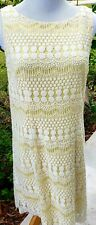 Jessica Howard Sleeveless Embroidered Lace dress 10p