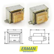 Trasformatore lamellare di alimentazione con ingresso 220V - uscita 6V - 3A
